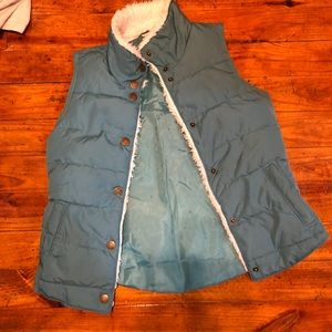 Maurice's puffy vest teal